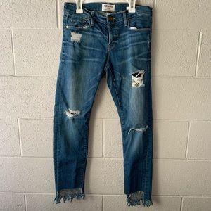 FRAME Denim Le Gargon distressed denim jeans Sz 25